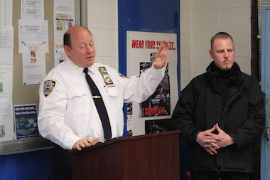 Inspector Barry Buzzetti announced Wednesday, March 26, 2014 that he would leave the 34th Precinct for Patrol Borough Manhattan South.