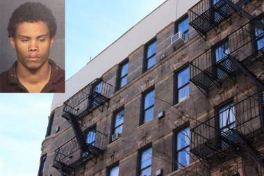 Derrick Williams fell five floors from a fire escape on East 2nd Street while carrying stolen electronics and other items, police said.