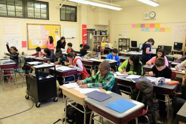 School classrooms are kept small at East Side Community High School with between about 18 students in each room for middle school and no more than 25 for high school.