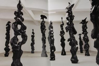 The musician is also a sculptor and will showcase three of his modern totems.