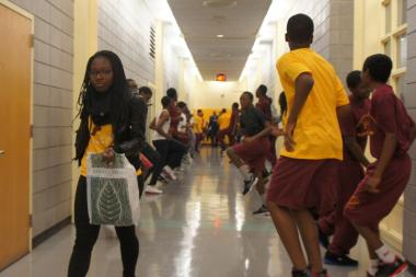 Without a gymnasium, students at the high-achieving Medgar Evers College Prep are forced to run windsprints in the hallways and take multiple periods of gym some semesters to complete their graduation requirements.