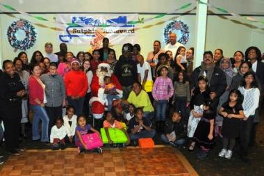 Last year's holiday party organized by the Sutphin Boulevard BID for neighborhood kids.