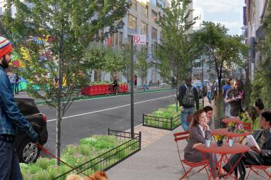 Sidewalks, parks and other outdoor venues in Hudson Square will be revamped as part of the project.