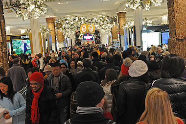 New Yorkers flocked to their local department stores to take advantage of Black Friday deals on Nov. 29, 2013.