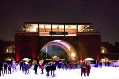 McCarren Park's ice skating rink opens Friday.
