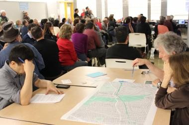 Residents discussed ideas for the proposed QueensWay during workshops held in November, 2013.