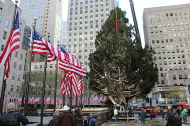 The Rockefeller Center Christmas lighting will cause street closures in Midtown Wednesday.