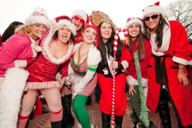 Abby Ehmann, 54 (third from left) is organizing a SantaCon Detour for revelers 30 and older on Dec. 14, 2013.