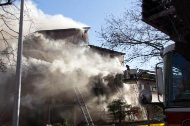 Three homes in the private Stonegate community in Staten Island were destroyed from a fire.