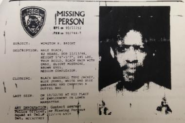 Winston Bright went to work on Oct. 15, 1990, and never returned home. His family and the NYPD hung up missing posters and searched for him for a year but never found him. Bright claims he had amnesia and ended up in San Diego, where he changed his identity to Kwame Seku.