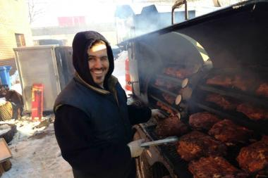 Crown Heights synogogue celebrates snowy smokeout with kosher Texas BBQ