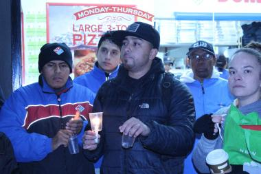 Bairon Solorzano and over twenty other Domino's Pizza employees walked off the job after they say their manager retaliated against them for participating in a living wage protest.