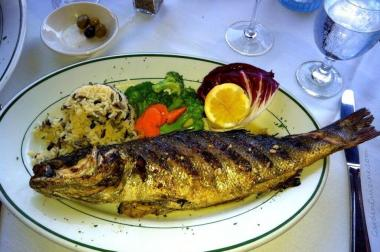 Black Sea restaurant on Queens Boulevard specializes in fish and other seafood dishes.