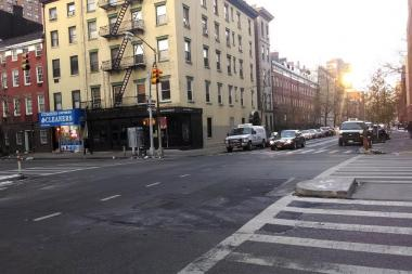 Two cars collided near Ninth Avenue and 20th Street Thursday morning, the FDNY said.