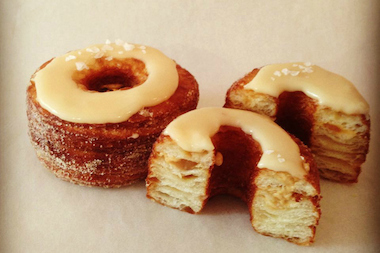 Salted dulce de leche Cronuts from Dominique Ansel Bakery.