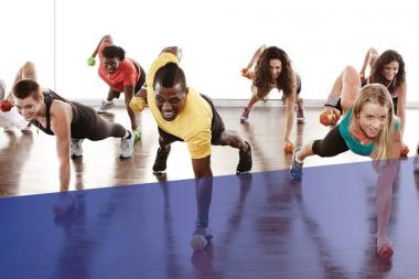 Crunch Gym offers fitness classes at its locations.
