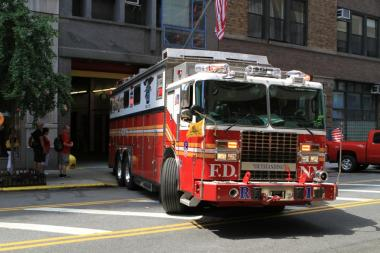A New York fire truck.