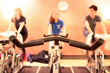 Students from Grace Church School can choose to do indoor cycling classes before school.