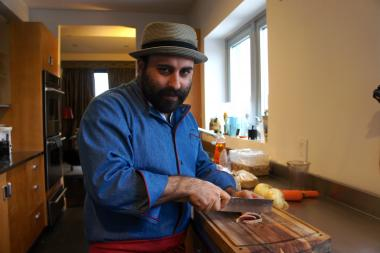 Chef Yuda Schloss, 30, of Crown Heights, gives hipster cuisine a touch of Hasidic soul.