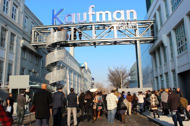 The Astoria Flea & Food is held on Sundays at the backlot at Kaufman Astoria Studios.