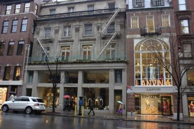 The Donna Karan store, located to the left of Lanvin, currently occupies the space at 819 Madison Ave.