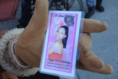 Dozens gathered at Sheryl Outerbridge's funeral in Harlem.