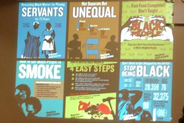 "Provocative ""Racism Still Exists"" posters that ran from August through January were part of a study on black health."