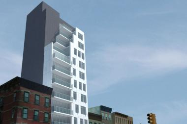 The new residential building will rise on Fourth Avenue and Douglass Street.