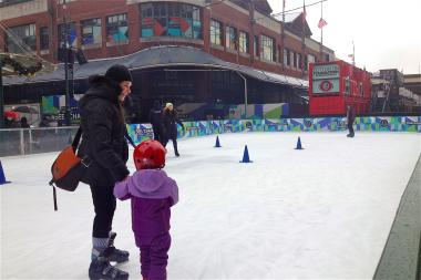 The new South Street Seaport ice rink is slated to be open for the season, through March 2014.