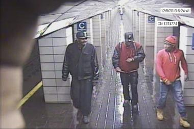 The six people, all in their 20s, attacked a man in the Christopher Street PATH station, the PAPD said.