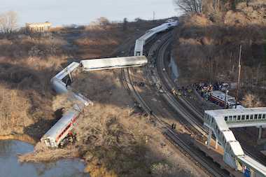 A train jumped the tracks Dec. 1 on the Hudson Line, the MTA said, killing four passengers and injuring dozens.