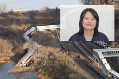 Kisook Ahn, 35, boarded the train after a 12 hour shift taking care of children.