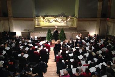 The West Village Chorale kicked off the 2013 Christmas season on Sunday with an audience sing of Handel's Messiah.