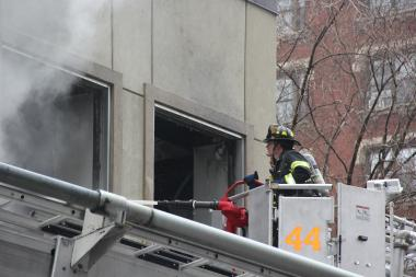 A fire at Citibank on West 111th and Broadway that left several injured.