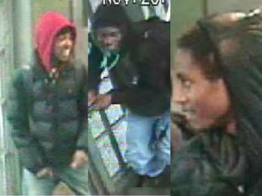 Three men attacked and tried to rob a 22-year-old man on the C train in Bed-Stuy, police said.