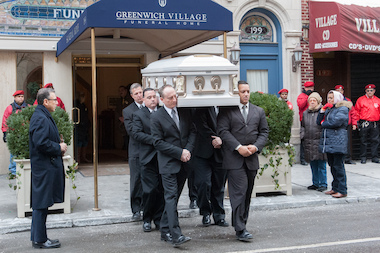 Family and friends gathered to mourn the death of autitic teen, Avonte Oquendo, at the Greenwich Village Funeral Home and at the Church of St. Joseph on Jan. 25, 2014.