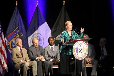 Gale Brewer was sworn in Sunday afternoon as Manhattan's 27th Borough President.
