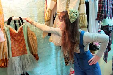 Mandate of Heaven, with clothing made from vintage fabric, opened its store last week at 17 Essex Street.