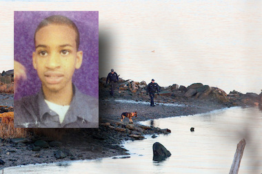 A girl taking pictures in College Point may have found the bones of a missing autistic boy, reports said.