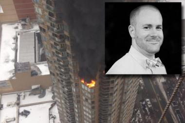 Daniel McClung died in a three-alarm fire at a West 43rd Street residential tower, officials said.