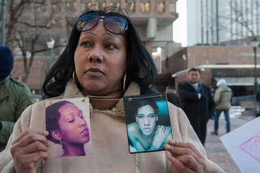 Transgender people and their allies attend a protest in front of One Police Plaza to demand a more comprehensive investigation into the murder of transgender youth, Islan Nettles on January 30, 2014.