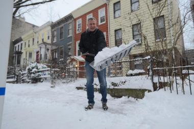 New Yorkers woke up to several inches of snow Friday after the first major storm of the winter.