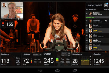 The bikes come complete with a tablet that can live stream classes.