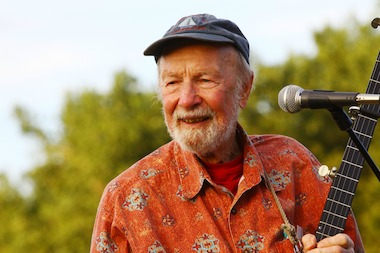 Pete Seeger, pictured here in 2009 in Hunts Point Riverside Park, died on Jan. 28, 2014. He was 94.
