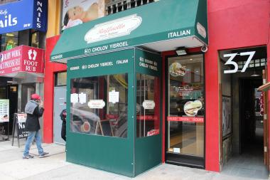 Raffaello Kosher Pizza was shut down by the Health Department for evidence of mice and contaminated food.