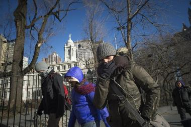 Below-freezing wind chills and 6 to 10 inches of snow are forecast to hit the city Tuesday.