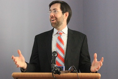 State Senator Dan Squadron took a creative tact to arguing against allowing charity ticket resellers to markup prices during a debate on May 7, 2014.