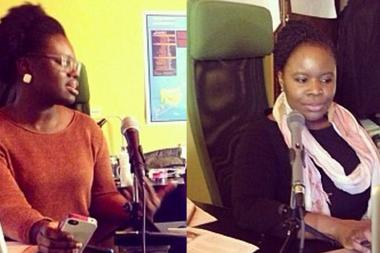 Anthonine Pierre (left) and Veralyn Williams host a new social justice podcast aimed at central Brooklynites.