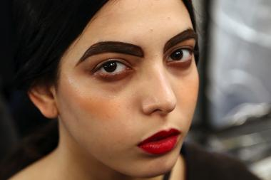 Big and bold eyebrows are making a statement at New York Fashion Week this season.