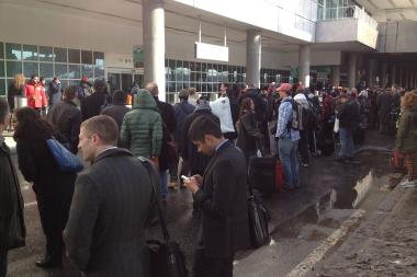 Terminal C at LaGuardia Airport was partially evacuated late Tuesday morning